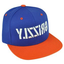 Grizzly Grip Tape Blue Orange Snapback Hat Cap Skateboard Sk