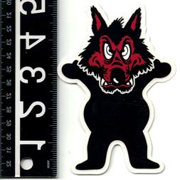 GRIZZLY GRIP TAPE WOLFPACK SKATE STICKER 5.25 in. x 3.5 in.