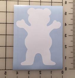 "Grizzly Griptape Bear Diamond Supply Co 5"" Tall White Vinyl"