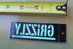Grizzly Skateboard Grip Tape Clothing Tag Original Z22a Skat