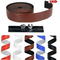 Handlebar Tape Cycling Road Bike Bicycle PU Leather Handle B