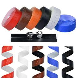Handlebar Tape PU Leather Cycling Road Bike Bicycle  Handle