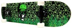 Krown Intro Skateboard, Green Flame