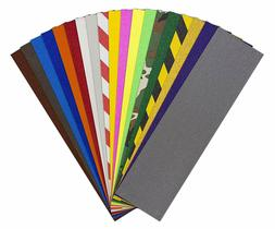 "JESSUP Quality Skateboard Colored GripTape 9"" x 33"" All Colo"