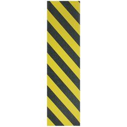 "JESSUP Quality Skateboard Grip Tape Black/Yellow Stripe 9"" x"
