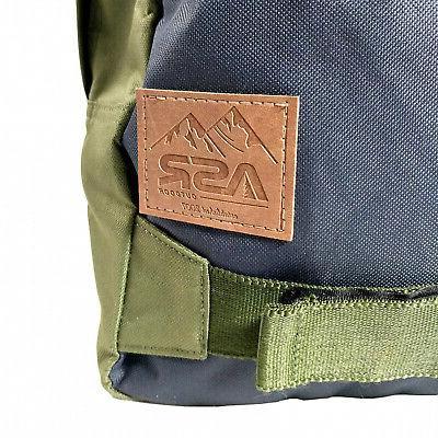 ASR Outdoor 19L Griptape Backpack Dual Zip Travel Bag