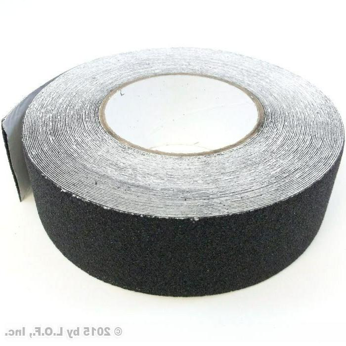 "2"" x 60' Safety Non Skid Grit Grip Tape Anti Slip Roll Black"
