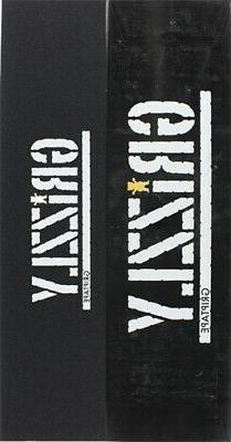GRIZZLY 20/BOX STAMP/BEAR CUTOUT BLK/WT SKATE GRIPTAPE