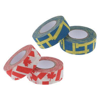 4 Rolls Adhesive Hockey 1''x10yds Cotton