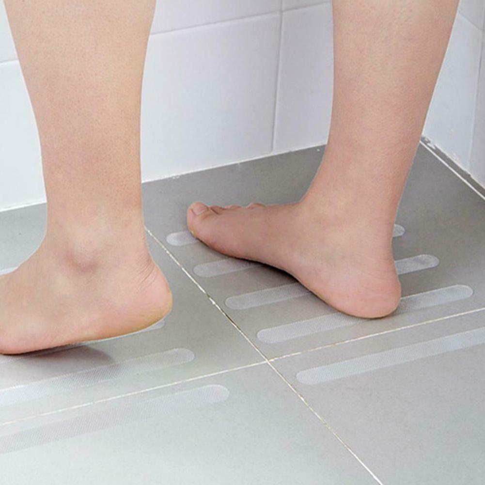 5pcs Waterproof Adhesive Bath Grip Strips Tape