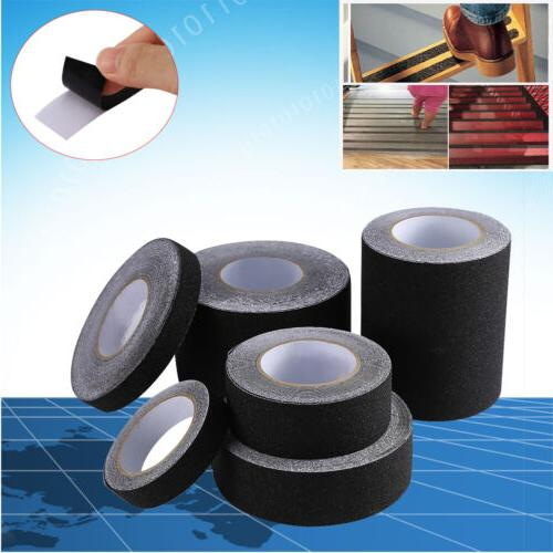 60′ BLACK Roll Safety Non Skid Tape Anti Slip Tape Sticker
