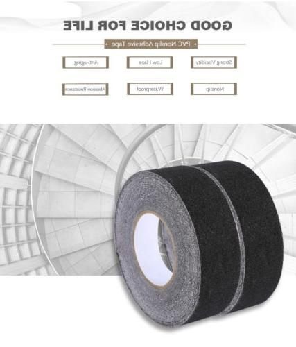 60′ BLACK Roll Safety Non Skid Tape Anti Slip Grip Safe Grit