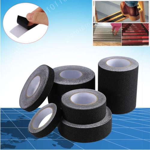 60′ BLACK Roll Safety Non Skid Tape Anti Slip Tape Sticker