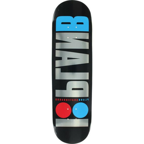 """Plan B 8.5"""" Foil Skateboard Mob"""