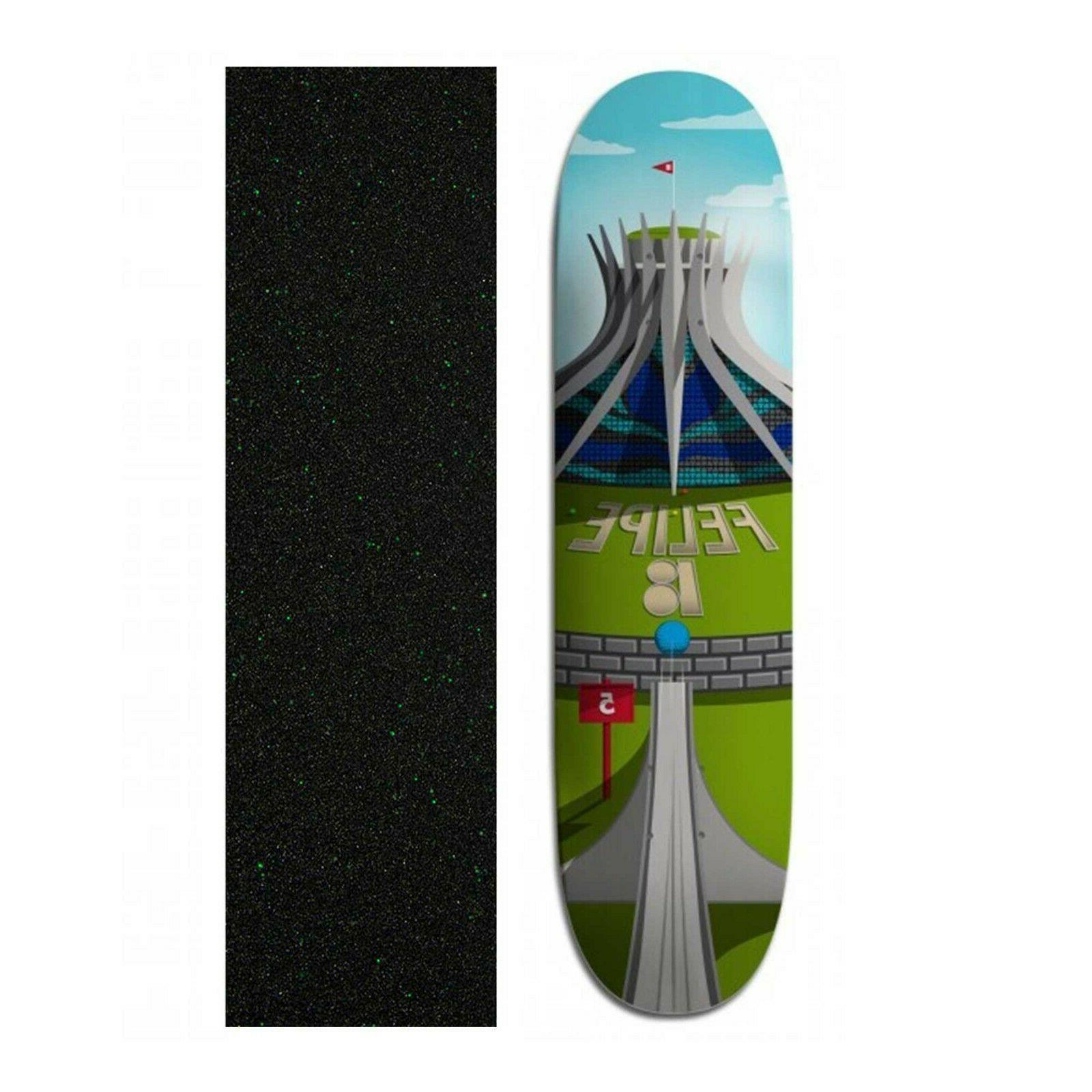 8 felipe gustavo cathedral skateboard deck