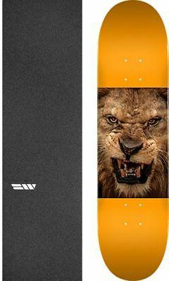 "Mini Logo  Animal Lion Eyes 7.5"" Skateboard Deck + griptape"