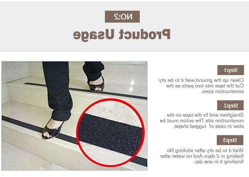 Anti High Safety Grip Tape Strips Adhesive Black