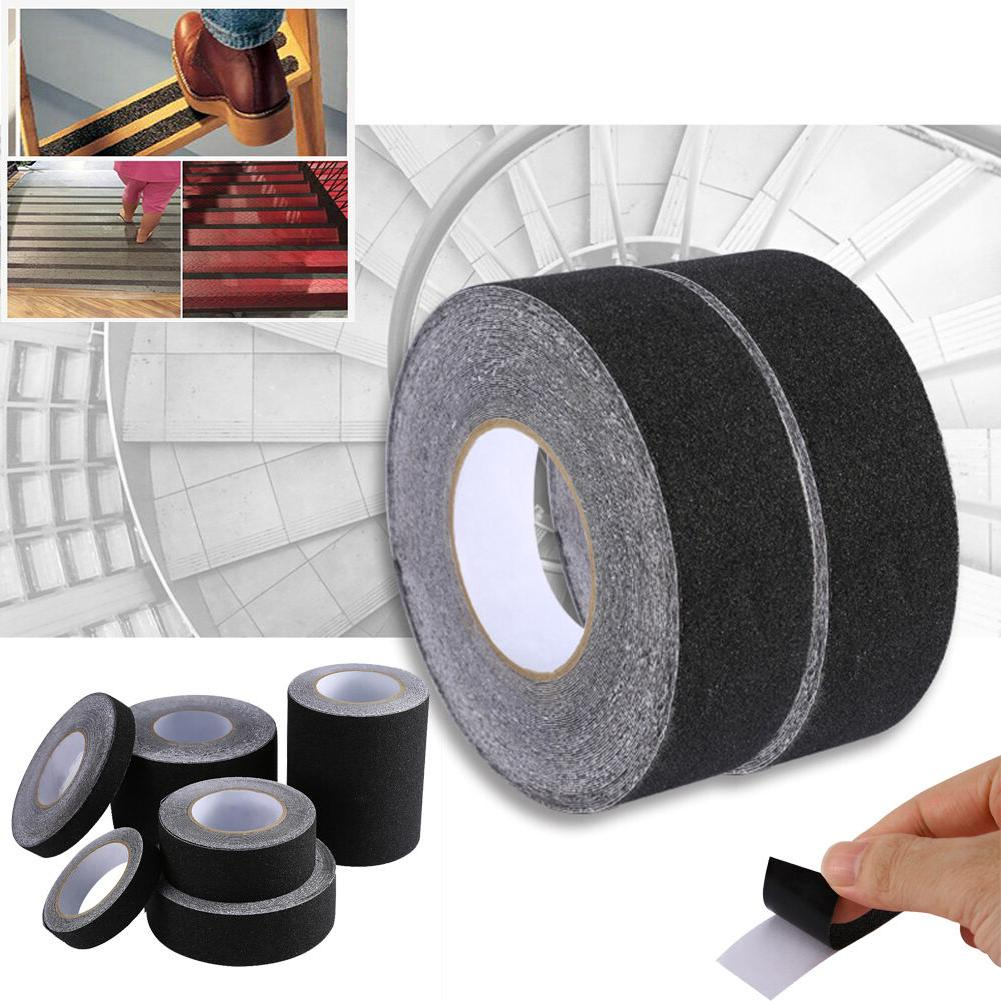 Anti Slip High Traction Grit Grip Strips Adhesive Black