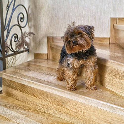 """Kenley Non-Slip Stair Treads – Pack Clear Step 4""""x24"""" & Outdoor Floor Tape Adhesive Steps & Fall for Dogs Kids"""
