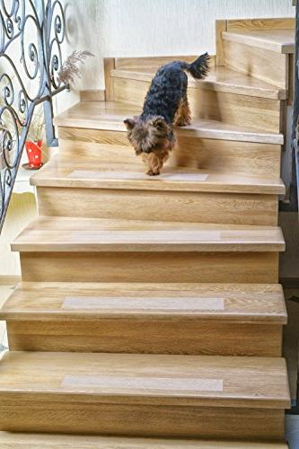 """Kenley Non-Slip – 10 Pack Clear Step 4""""x24"""" Indoor & Anti-Slip Floor Vinyl Tape with Adhesive Fall Risk Dogs Kids Elderly"""