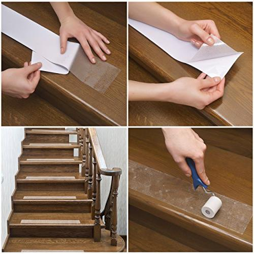 Kenley Non-Slip – 10 Step Strips & Floor Safety Tape with Fall Prevention Dogs