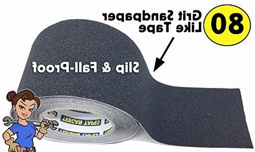 "Anti Tape - 4"" 30 - Grip & Tape Walkways, Decks, Wheelchair More Cut Custom Size Strips Traction | by Teegan"