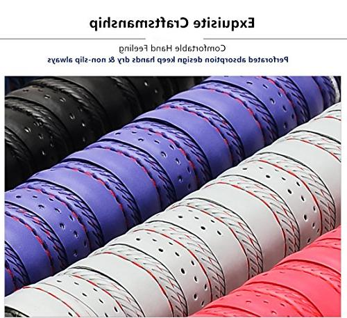 Yuboa Tennis Racket Tape,Non-Slip Grip Tape Bat/Badminton/Bike Handle/Softball,Black