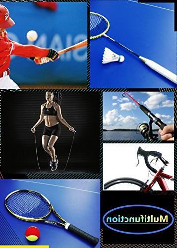 Yuboa Anti-Slip Bat/Badminton/Bike Handle/Softball,Black