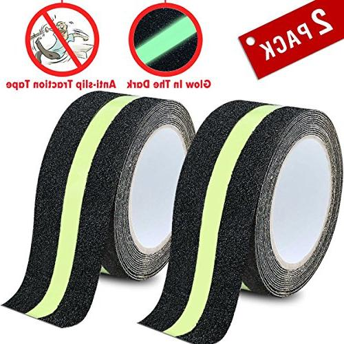 Anti Slip Tape Clear 4 Inch By 180 Inch High Traction Grip Abrasive Residue Safety Track Tape with Soft Tape Measure By Cefanty