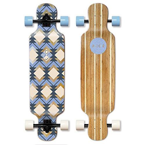 bamboo graphic complete longboard skateboard