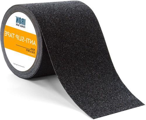 Black Anti Slip Tape - 4 Inch x 30 Foot, 80 Grit Non Slip Gr