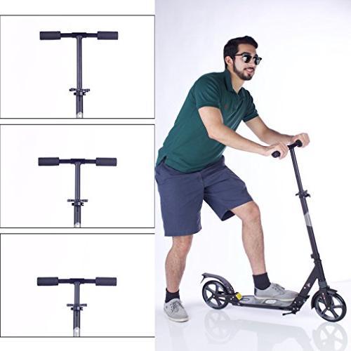 MIAWHEELS Foldable Suspension+ Strap+Reflective+ Long Rear Brake, Kick Scooter