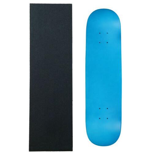 "MOOSE Blank Skateboared Deck 7.75"" NEON BLUE - With Griptape"