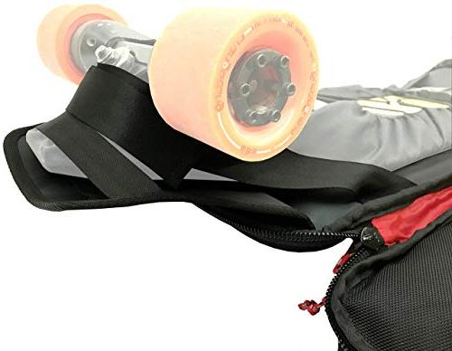 Hubro Designs Boosted Longboard Backpack Carry