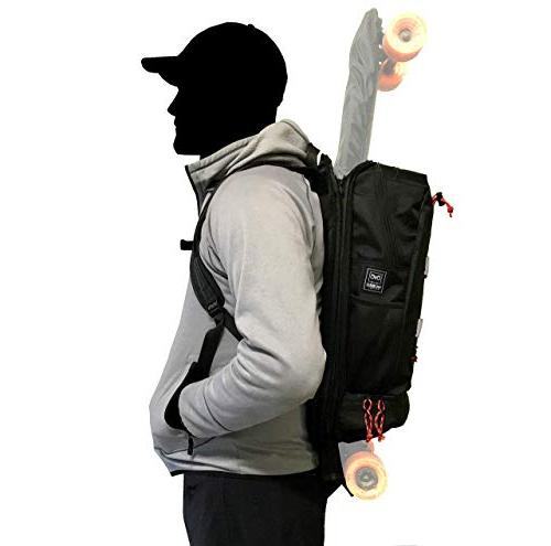 Hubro Boosted Longboard Backpack with Skateboard Carry