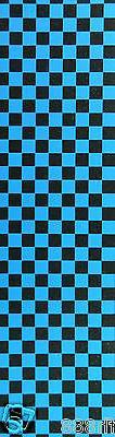 Brand New Skateboard Grip Tape Checker Blue 9'' x 33''