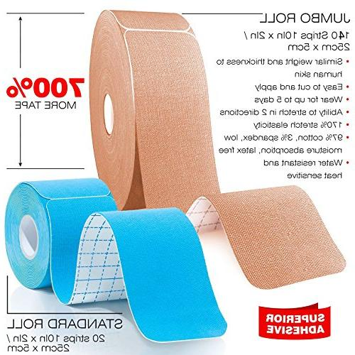 """Bulk Kinesiology Tape Precut For Knee, Shoulder, Elbow 