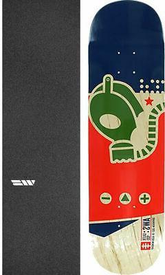 "Alien Workshop  Gas Mask Medium 8.25"" Skateboard Deck + grip"