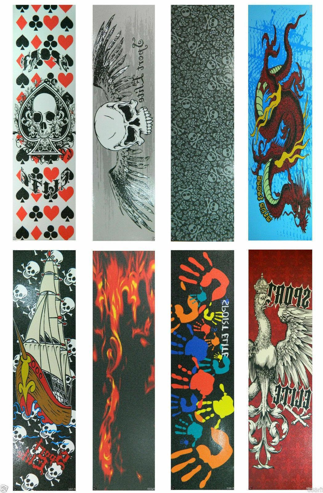 graphic skateboard deck grip tape multiple design