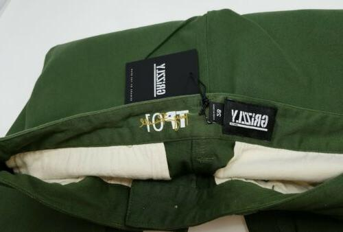 Grizzly Torrey pudwill pants 28 slim skinny green