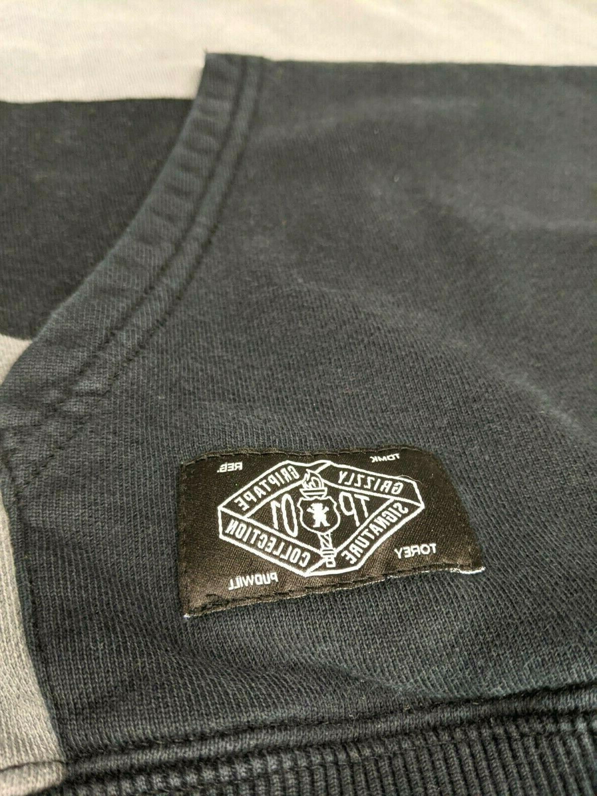 Grizzly Striped Gray Supply Co Apparel Size S