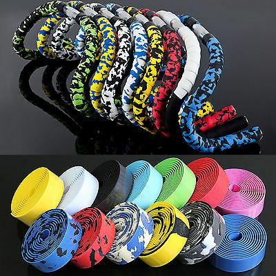 Handlebar Tape Bicycle Road Bike Sport Gym Cork Grip Wrap Ribbon Tape /& Bar Plug