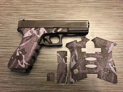 handleitgrips blue camo sandpaper gun grip tape