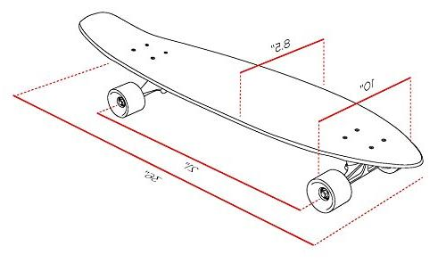 """Street Surfing Kicktail Out Longboard 36"""" Blown Out. Resistant Deck Platform. Durable Wheels"""