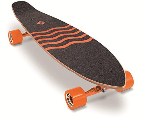 "Street Surfing Kicktail Out Skateboard Cruiser, 36"" Blown Deck Design. Platform. Wheels"