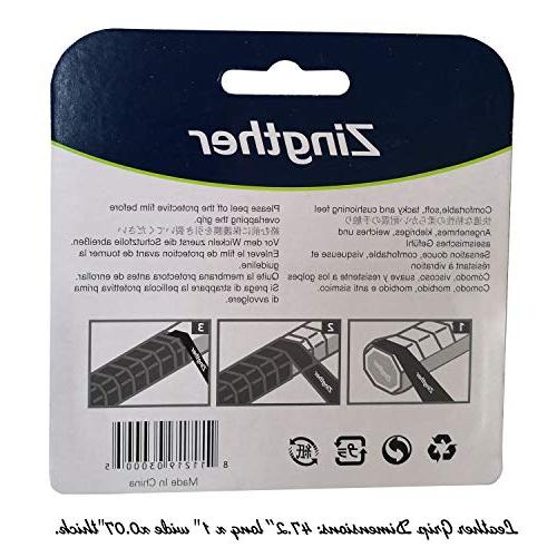 2-Pack Zingther Leather Replacement Tape for Tennis Raquet, Soft, Comfortable, Ultra Cushion