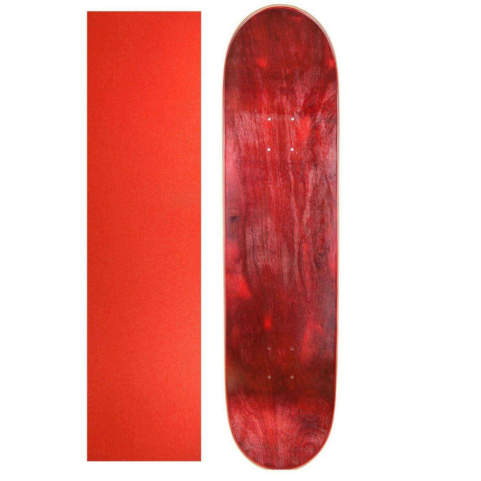 maple 7 75 skateboard deck red red