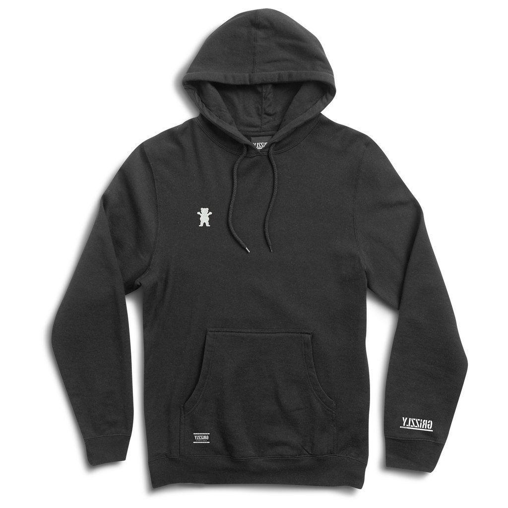 Grizzly Griptape Men's OG Bear Embroidered Pullover Hoodie B