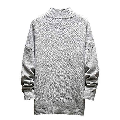Realdo Mens Long Sleeve Pullover Hem Blouse