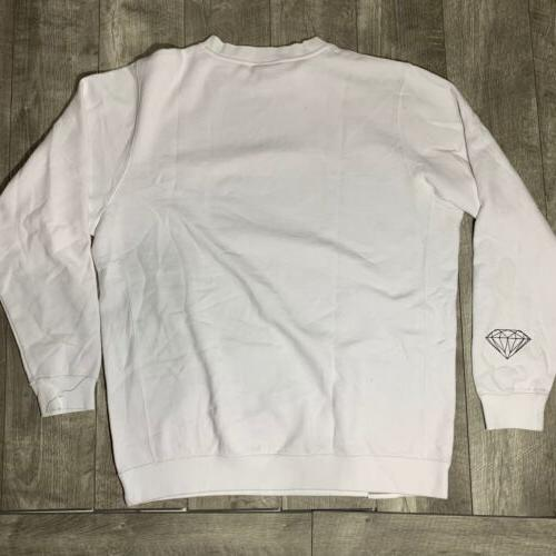 NEW Diamond Grizzly Grip Tape Big Logo Sweater XL